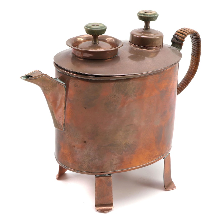 Imperial Russian Copper Samovar Tea Kettle, Late 19th to Early 20th Century