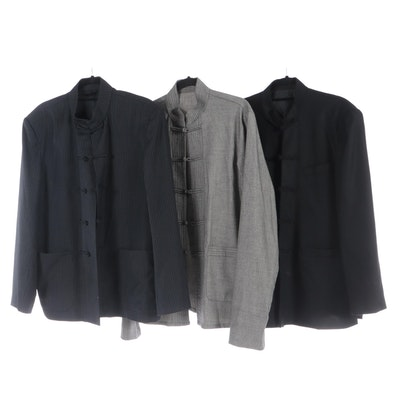 Tang Jackets with Frog Closures in Pinstripe, Herringbone and More