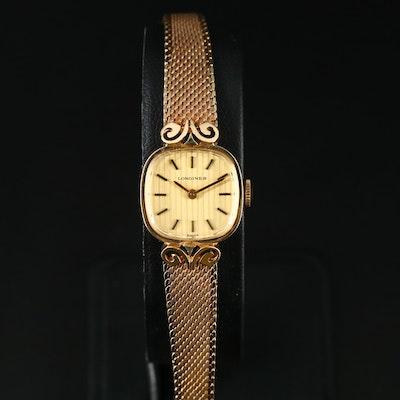 Vintage Longines 10K Rolled Gold Plate Stem Wind Wristwatch