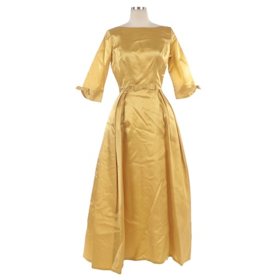 Handmade Occasion Dress with Watteau Back and Bow Embellishments