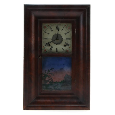 Victorian Mahogany Ogee-Case Kitchen Clock, Late 19th Century