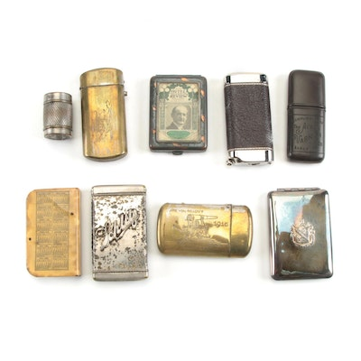 Panama-Pacific Exposition, Schlitz, and Other Match Cases, Early 20th Century