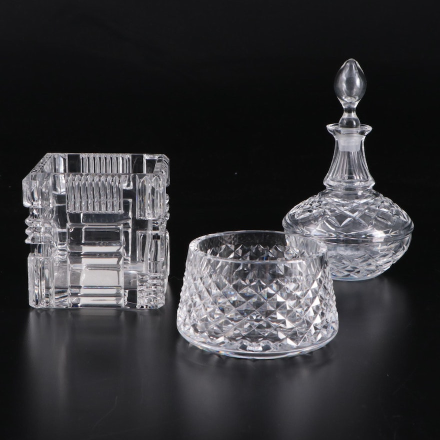 """Marquis by Waterford """"Cubist"""" Votive Candle Holder and Other Waterford Crystal"""
