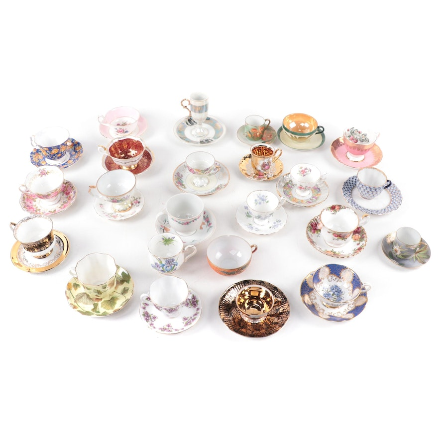Paragon, Royal Albert and Other Bone China and Porcelain Teacups and Saucers