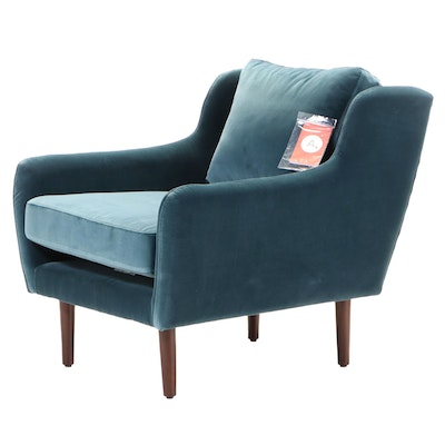 """Article """"Matrix Pacific Blue"""" Modernist Style Lounge Chair"""