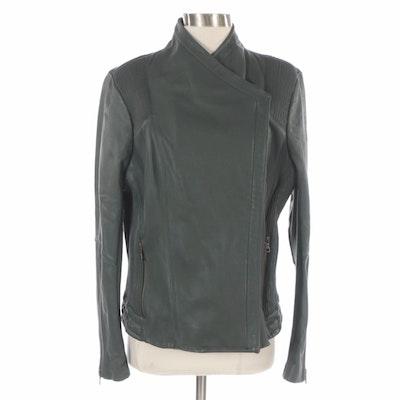 Sam Edelman Green Leather Jacket