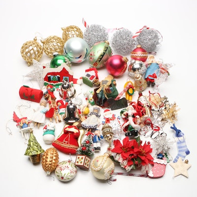 Collection of Handmade and Vintage Christmas Ornaments