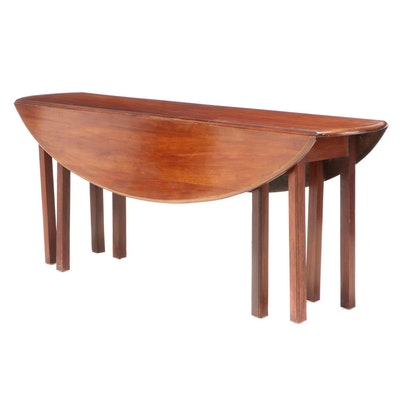 George III Style Mahogany Wake Table, 20th Century