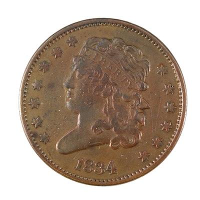 1834 Classic Head Half Cent
