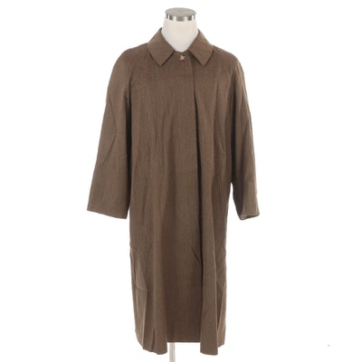 Juliana Collezione Wool Twill Overcoat with Raglan Sleeves