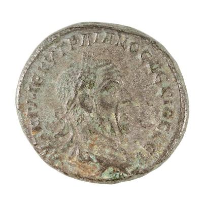 Ancient Roman Provincial Tetradrachm Coin of Trajan Decius, ca. 249 AD
