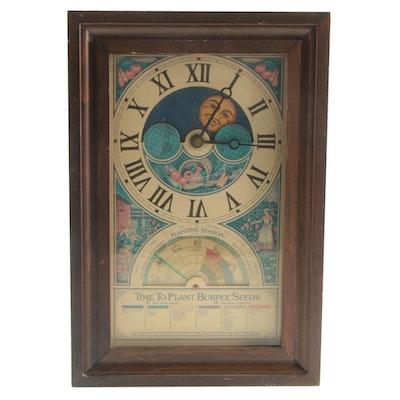 W. Atlee Burpee Seed Planting Clock, Late 1970s