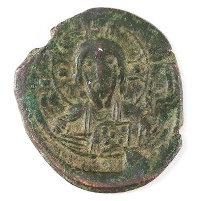 "Ancient Byzantine AE ""Anonymous"" Follis Coin, Class I, ca. 1078 AD"