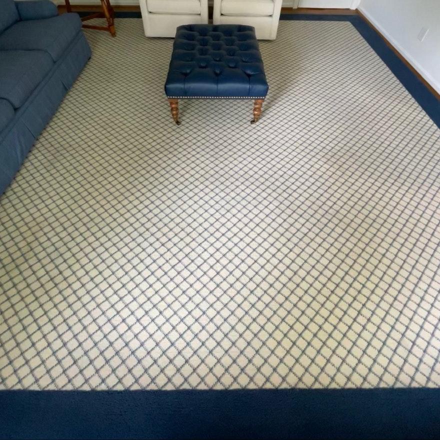 13'10 x 14'1 Machine Made Diamond Pattern Room Sized Rug
