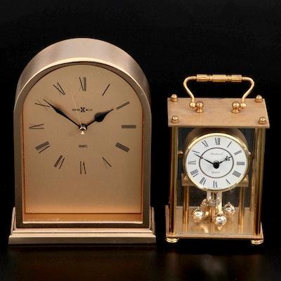 Howard Miller and Dunhaven Quartz Desk Clocks