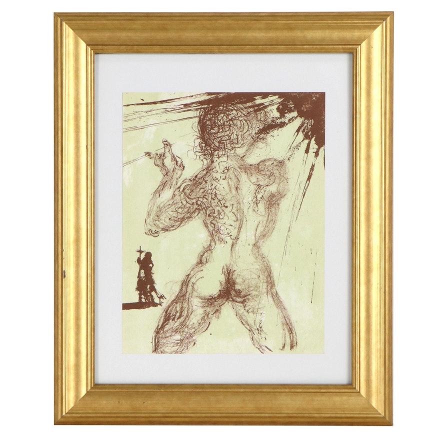 """Salvador Dalí Lithograph for """"Hommage à Meissonier,"""" 1967"""