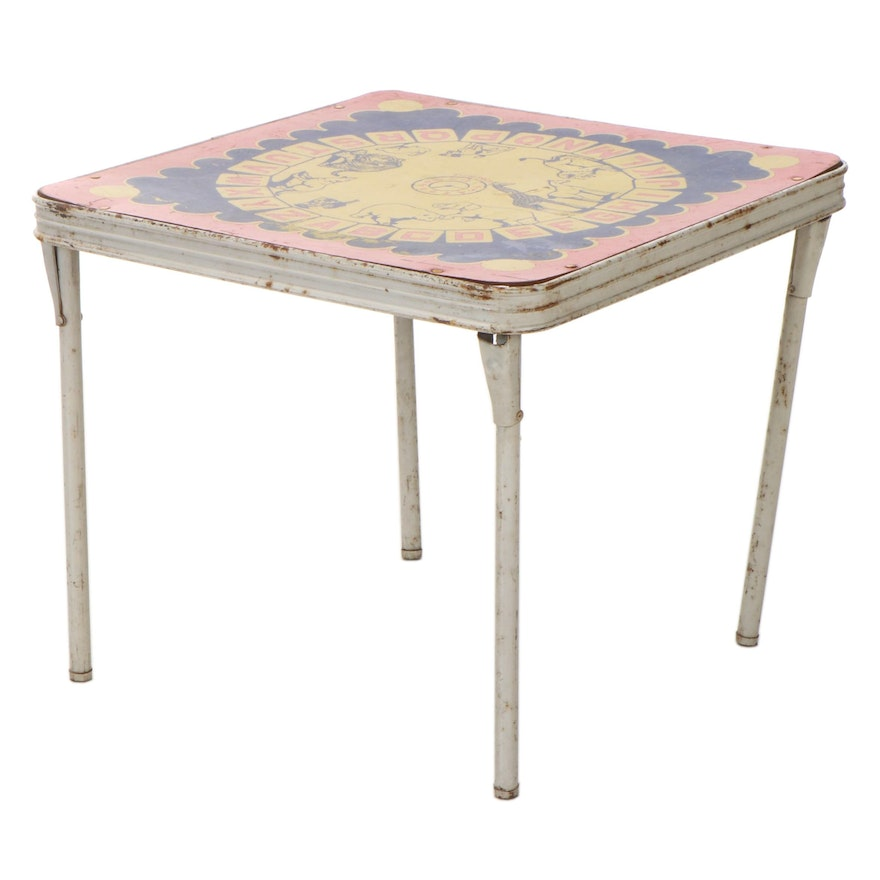 Children's Folding Table with Animals and Alphabet