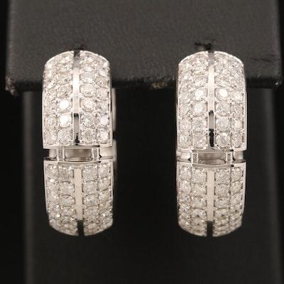 14K 3.27 CTW Diamond Hoop Earrings