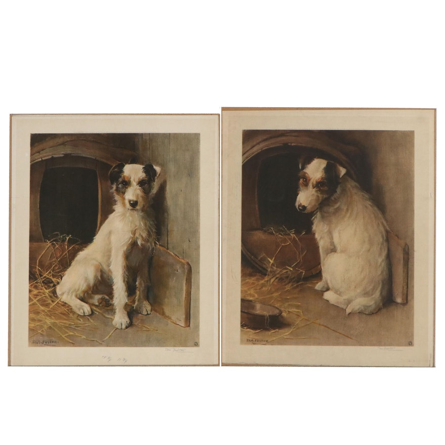 Samuel Fulton Photolithographs of Jack Russel Terriers