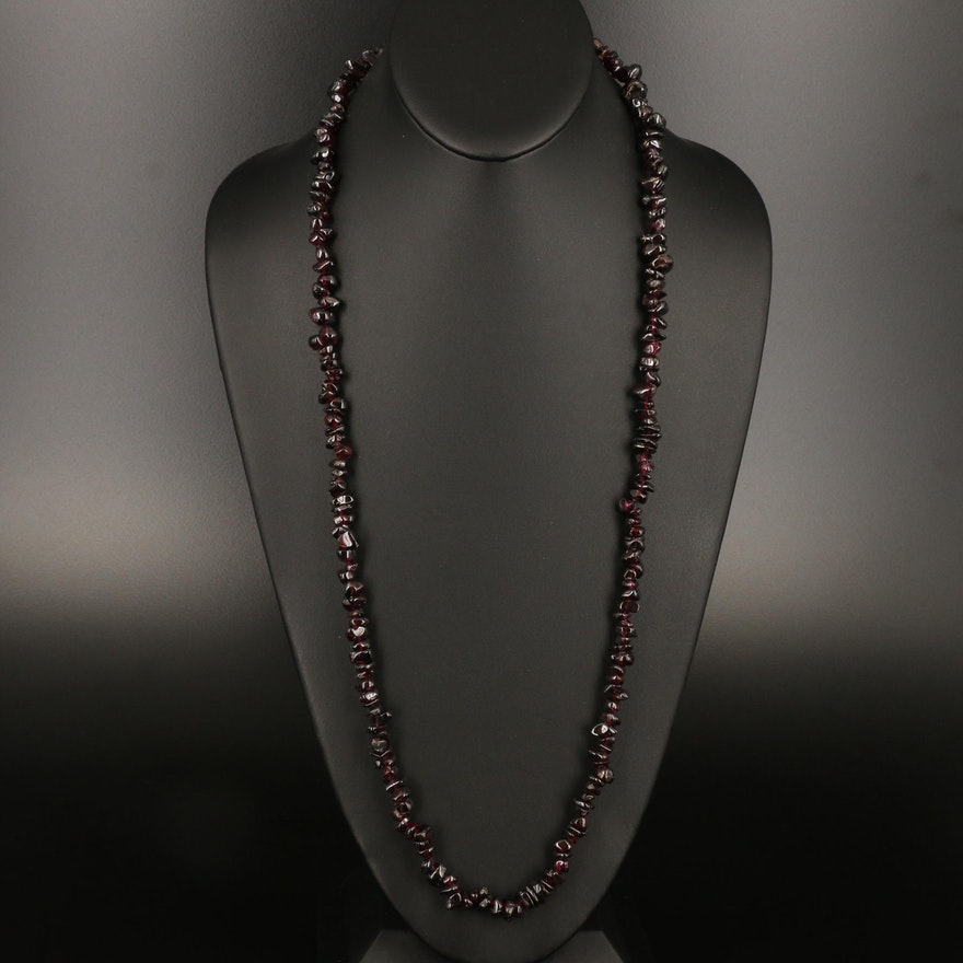 Endless Rhodolite Garnet Necklace