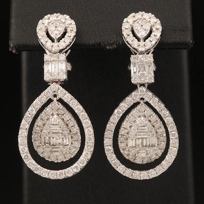 14K 2.88 CTW Diamond Earrings