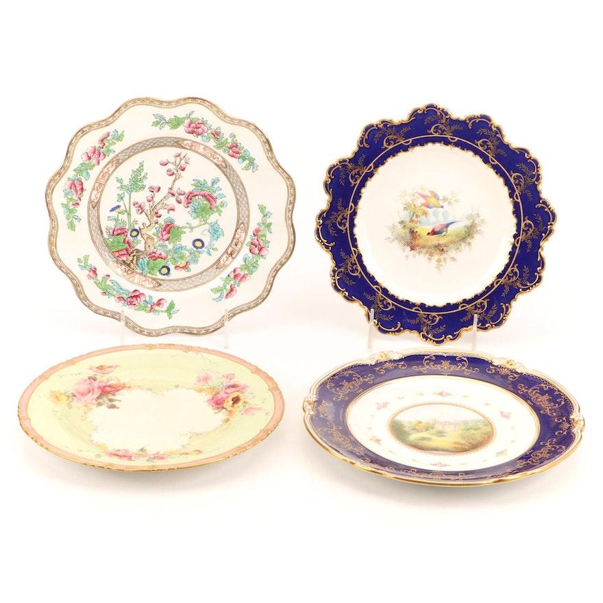 Royal Doulton, Coalport, and Royal Crown Derby Porcelain Plates
