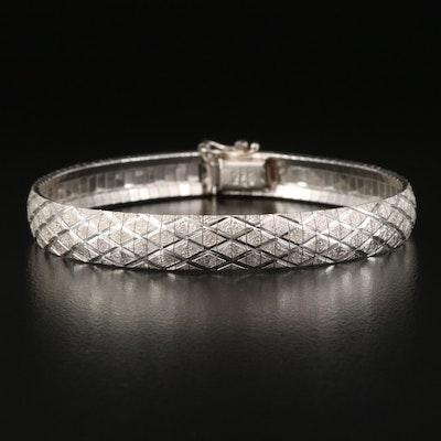 Sterling Textured Omega Chain Bracelet