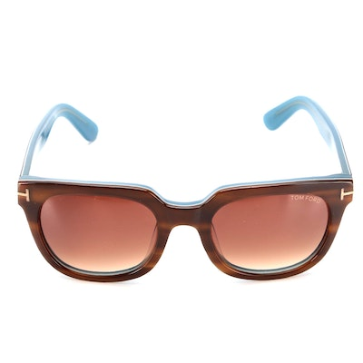 Tom Ford Horn-Rimmed Style Sunglasses with Case and Box