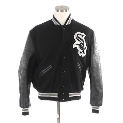 DeLong Official MLB Licensed Chicago White Socks Varsity Jacket
