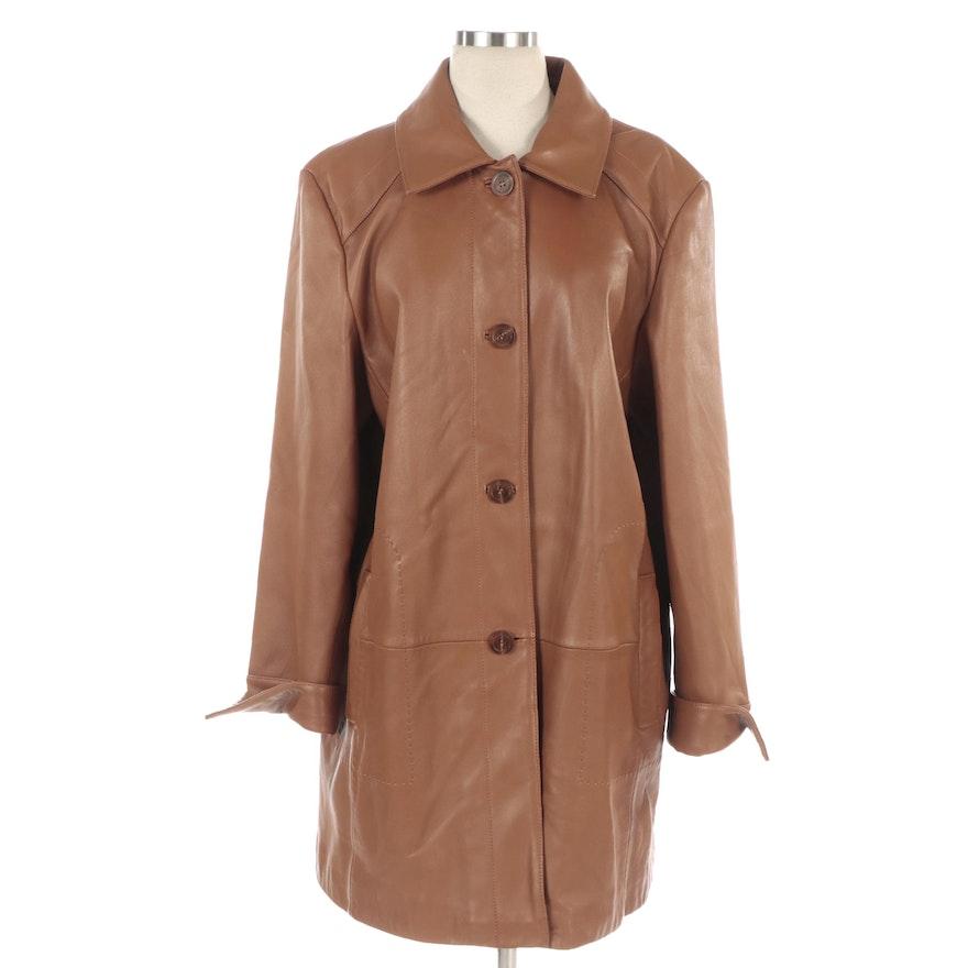LNR by La Nouvelle Renaissance Brown Leather Jacket