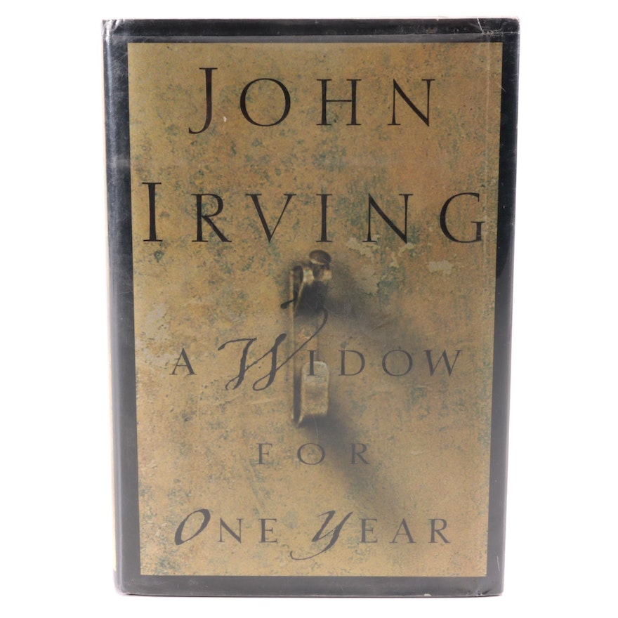 """Signed First Trade Edition """"A Widow for One Year"""" by John Irving, 1998"""