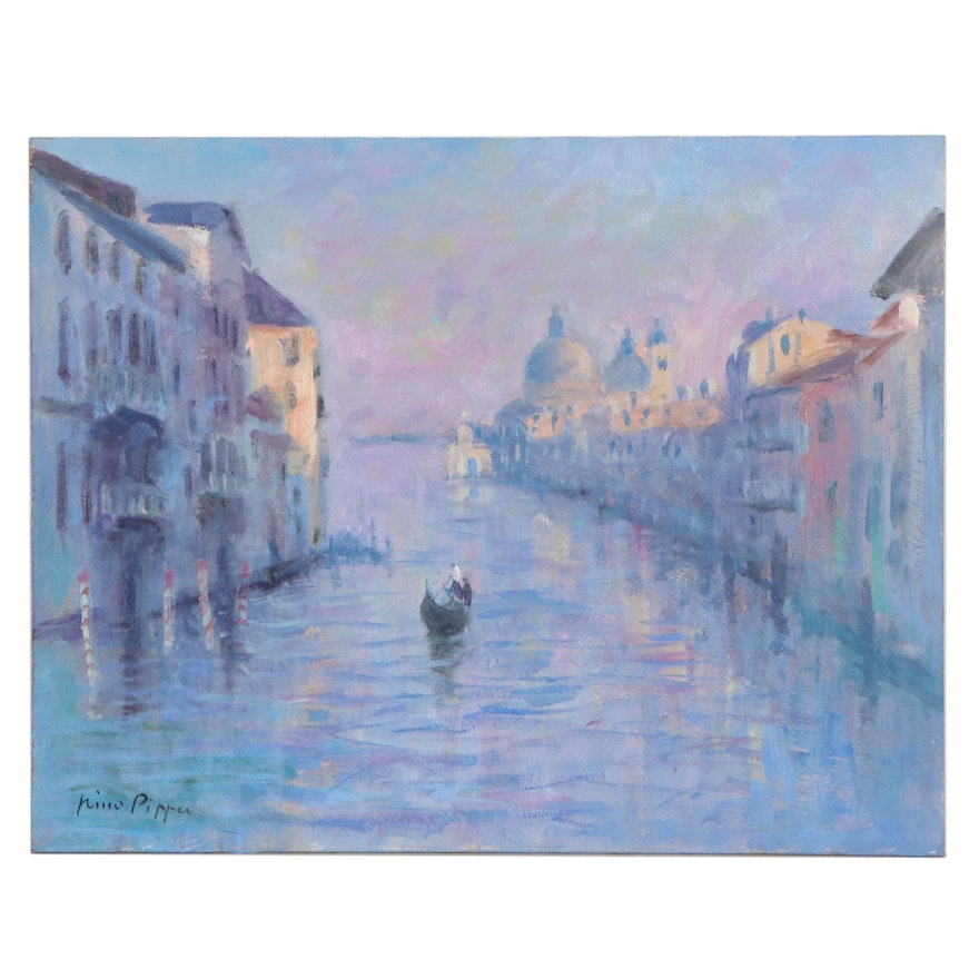 """Nino Pippa Oil Painting """"Venice - The Grand Canal,"""" 2016"""