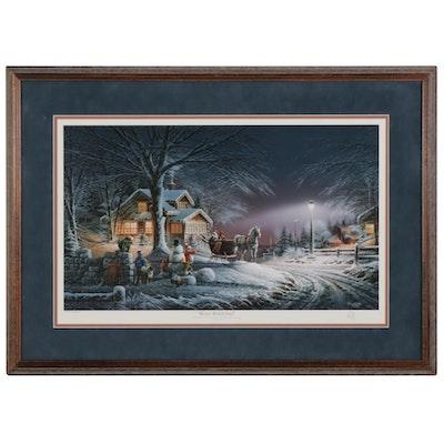 """Terry Redlin Offset Lithograph """"Winter Wonderland,"""" 1992"""