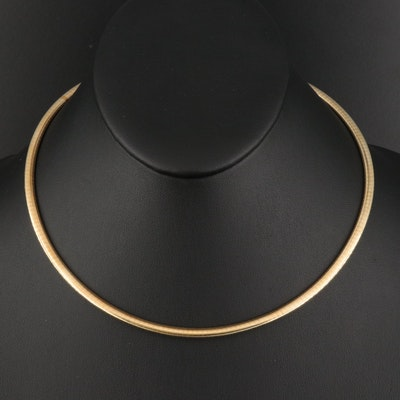 Italian 14K Omega Necklace