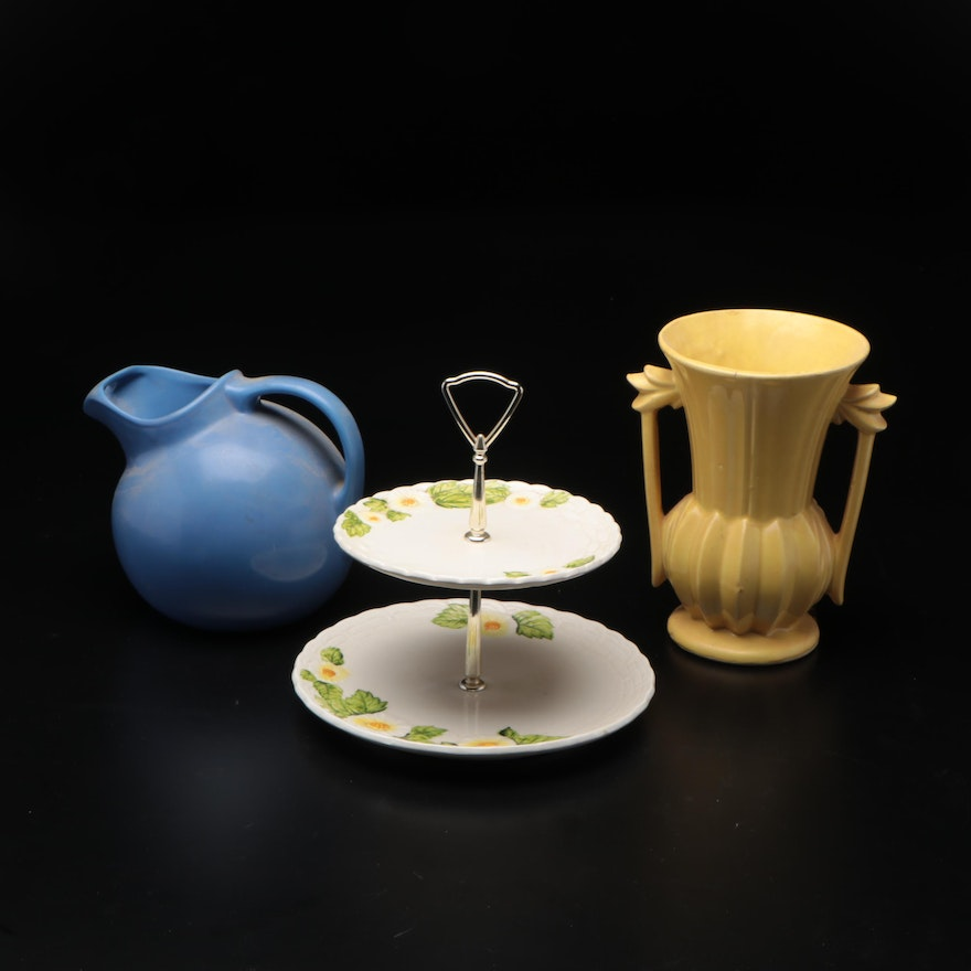 McCoy, Hall and Lefton Ceramic Pottery Serveware and Vase