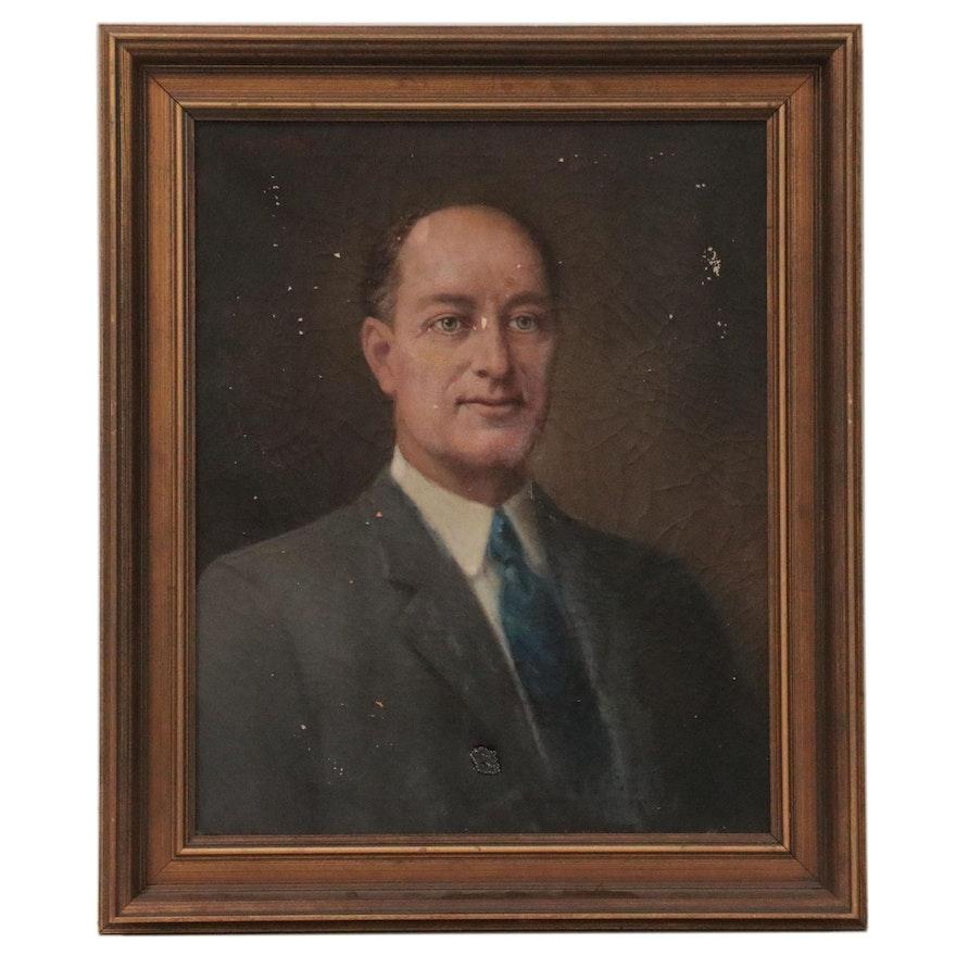 "Jessie Marian Isaacs Portrait Oil Painting ""Wade Hampton Covington,"" 1936"