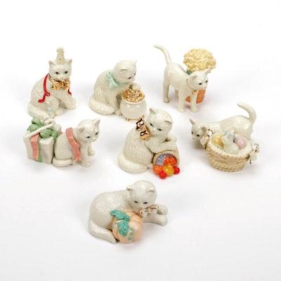 """Lenox """"12 Months Of Kitties"""" Porcelain Figurines"""
