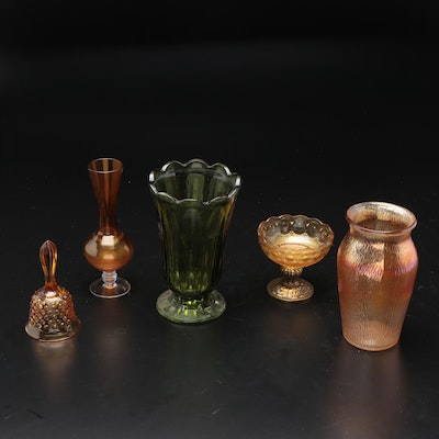 Carnival and Other Glass Vases