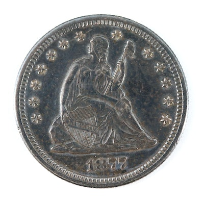 1877-S Liberty Seated Silver Quarter