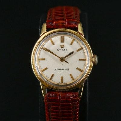 18K Omega Ladymatic Automatic Wristwatch