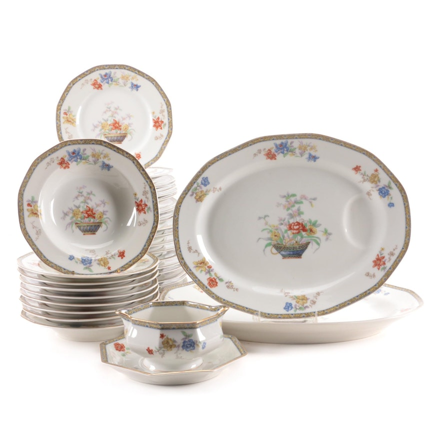 "Théodore Haviland ""Ganga"" Porcelain Dinnerware, Early to Mid 20th Century"