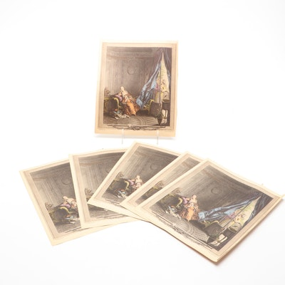 """Offset Lithographs After Sigmund Freudenberger """"Le Boudoir"""""""