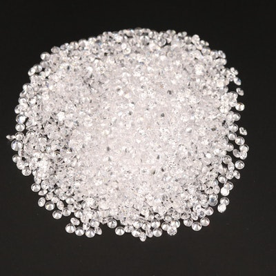 Loose Round Faceted Cubic Zirconia Selection