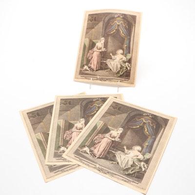 "Reproduction Print After Sigmund Freudenberger ""Le Bain"""