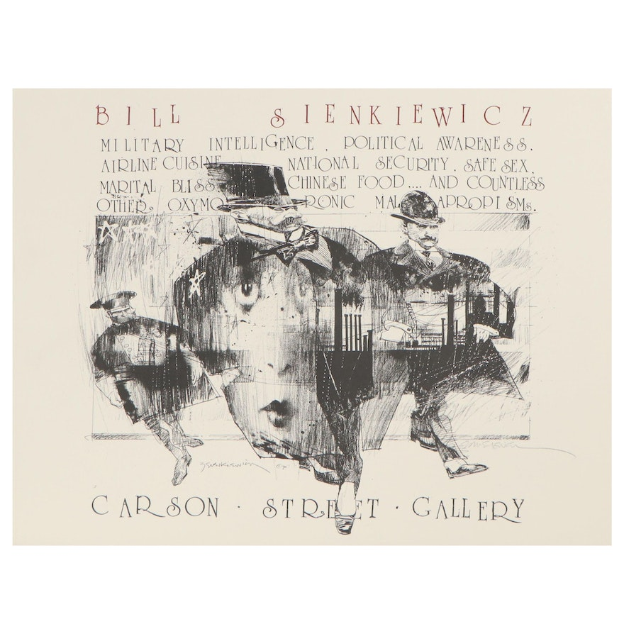 Bill Sienkiewicz Signed Exhibition Lithograph for Carson Street Gallery