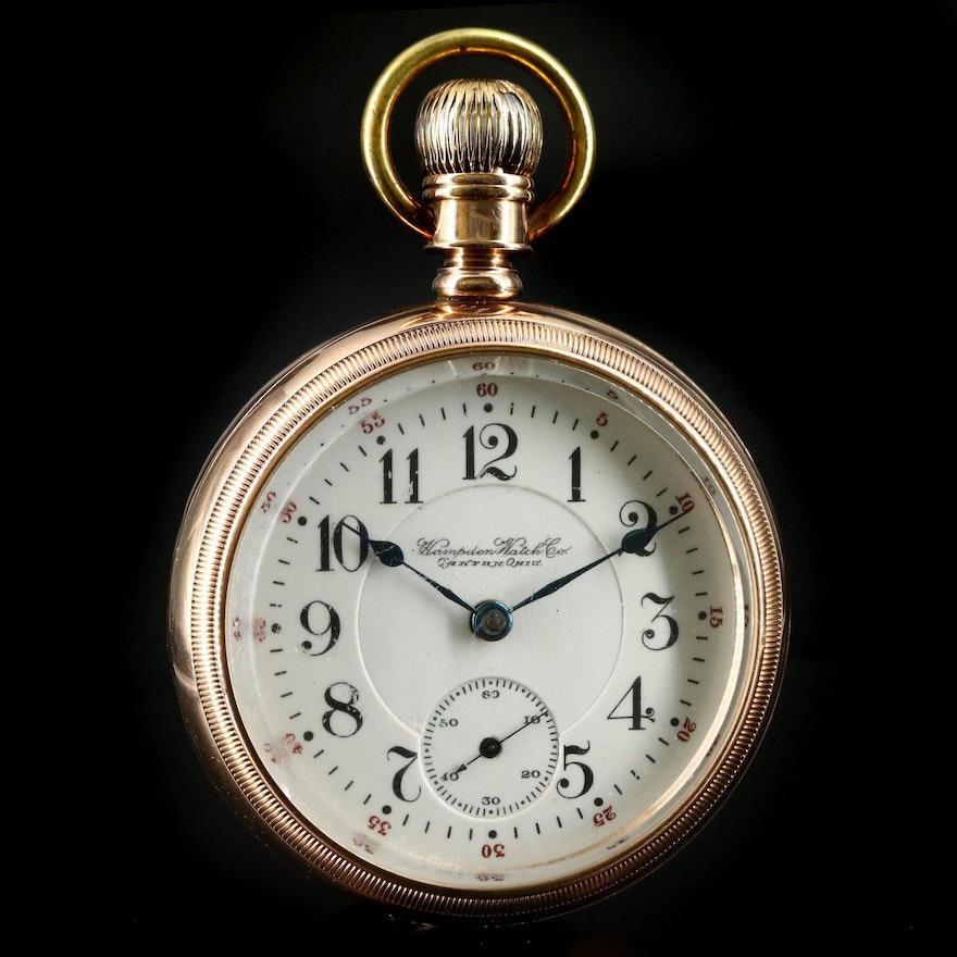 10K Hampden Railroad Grade Pocket Watch