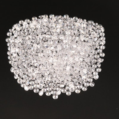 Loose Round Faceted Cubic Zirconia