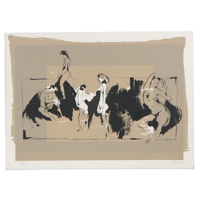"Gino Hollander Lithograph ""Orgy,"" 1979"