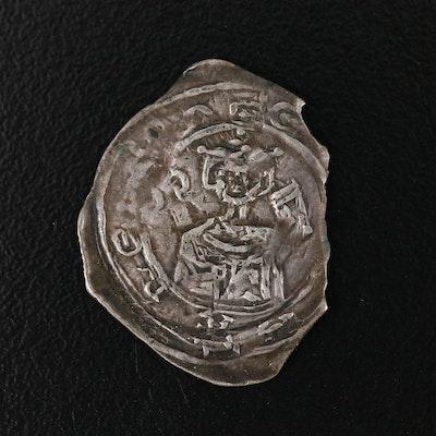 Bishopric of Salzburg 1-Pfennig Silver Coin of Eberhard II, 13th Century