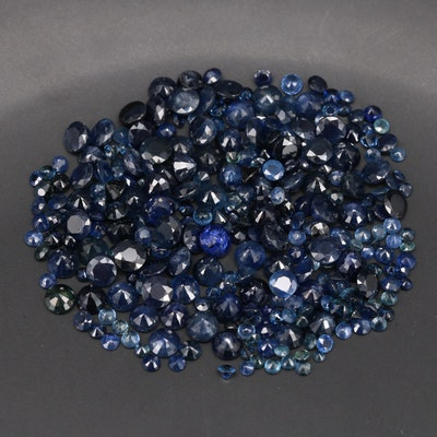 Loose 86.20 CTW Round Faceted Sapphires